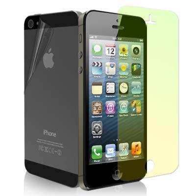 IPHONE 5/5S/SE 晶磨抗刮高光澤螢幕貼+機身背膜(贈邊條+布)