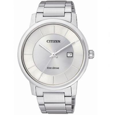 CITIZEN光動能極簡光影銀采時尚錶(BM6750-59A)-銀白/40mm