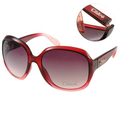 CHLOE太陽眼鏡 經典大框/漸層紅#CL 2227  C 03