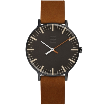 ZOOM Jazz 時光協奏曲極簡設計概念腕錶-棕色44mm