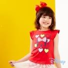 Disney甜美泡袖印圖上衣 紅色