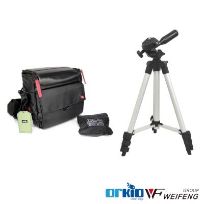 ORKIO 限量經典側背包(小)+WEIFENG WT-3111 輕型腳架
