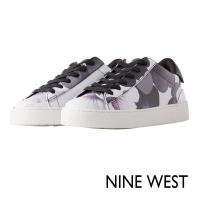 NINE-WEST-摩登時尚運動風休閒鞋鞋-灰紫花
