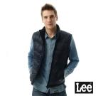 Lee 立領舖棉背心-男款-藍色
