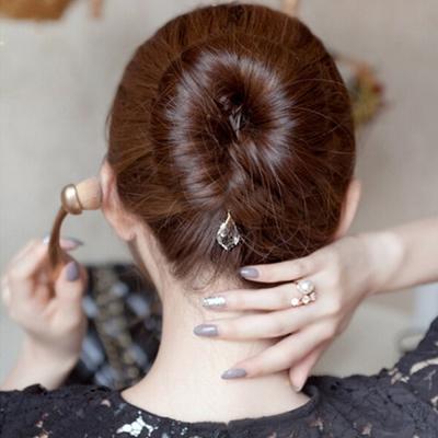 梨花HaNA-玩美一瞬間絕美水晶丸子頭盤髮棒