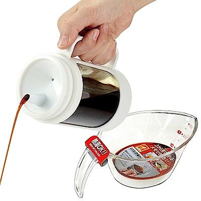 日本ASVEL油控式350ml調味油玻璃壺送300ml量杯