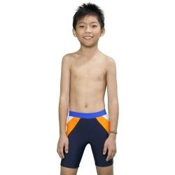 Aquanaut奧可那泳裝 白橘斜紋運動泳褲