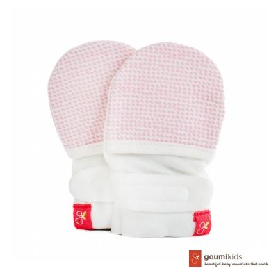 美國 GOUMIKIDS 有機棉嬰兒手套 (點點-粉色)
