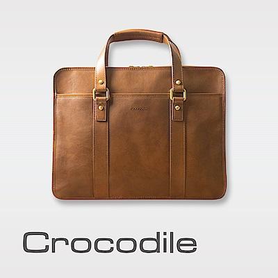 Crocodile Natural 義大利植物鞣原皮 簡約商務包 0104-58072