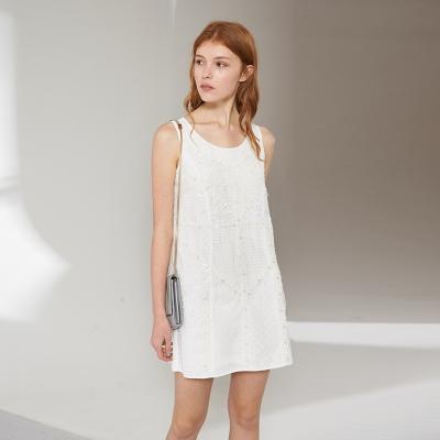 Chaber巧帛 立體滿版釘珠簡約時尚造型洋裝