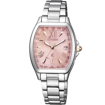 CITIZEN xC 宮廷風采光動能電波腕錶(EC1100-56W)-粉色/28mm
