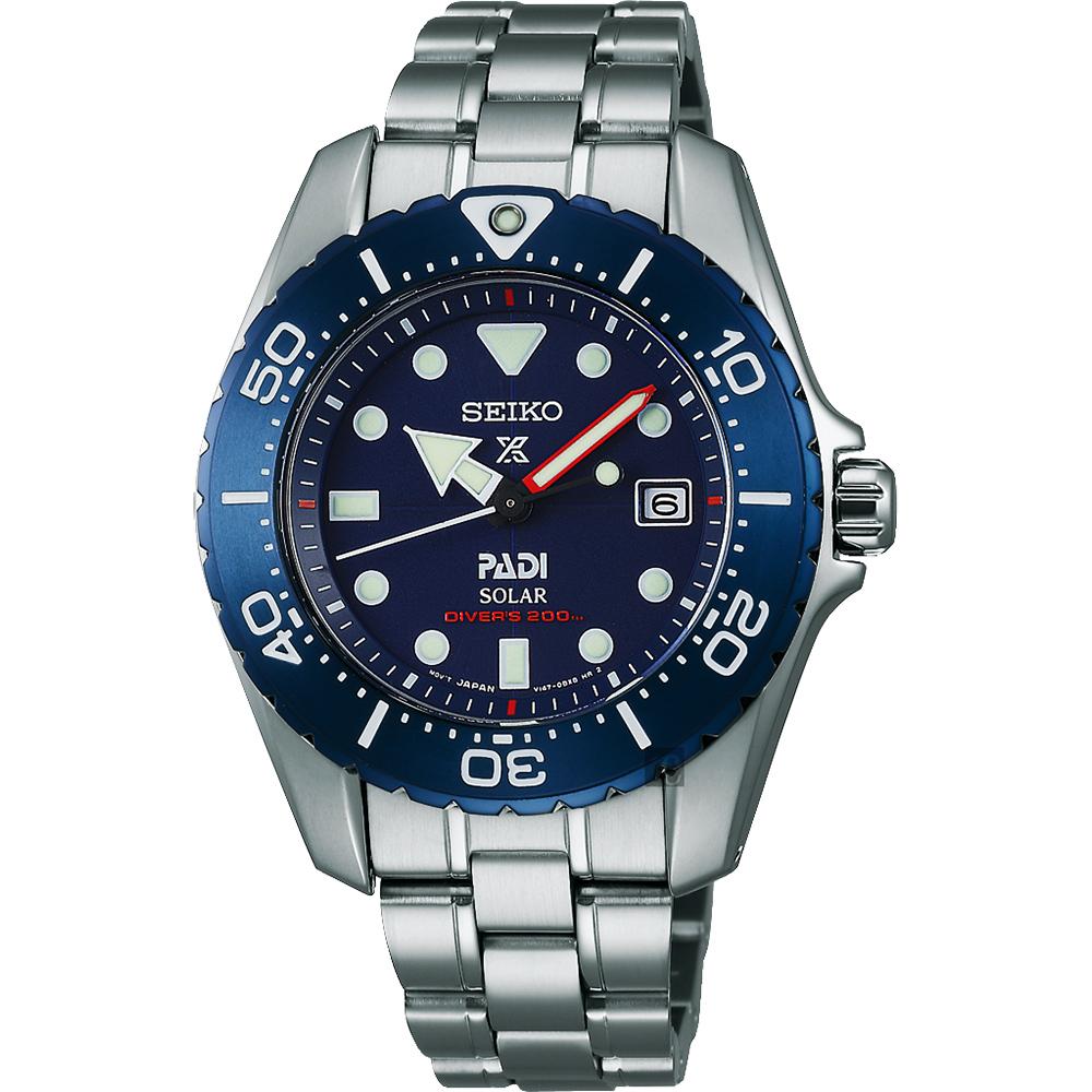 SEIKO Prospex PADI 聯名限量太陽能鈦金屬潛水女錶(SBDN035J)-藍