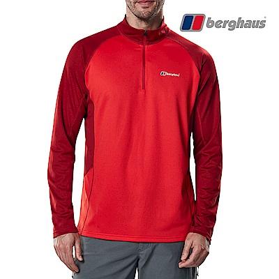 【Berghaus貝豪斯】男款銀離子除臭抗菌抗UVT恤S15M19-紅