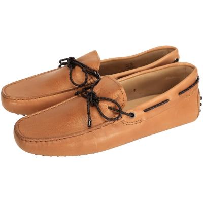 TOD'S Gommino Driving 編織綁帶豆豆休閒鞋(棕色/展示品)