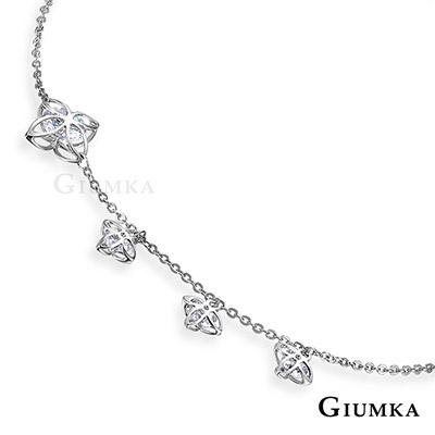 GIUMKA生命之花女腳鏈 精鍍正白K