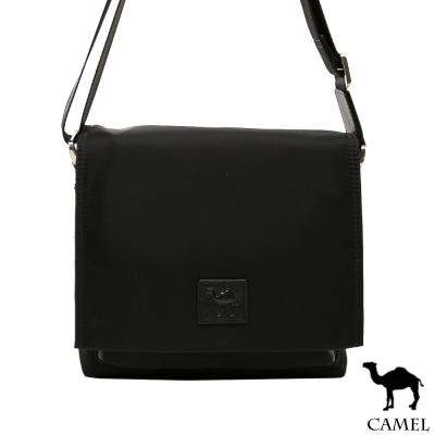 CAMEL - 倫敦品味十字紋防潑水牛皮小方側背包-共2色