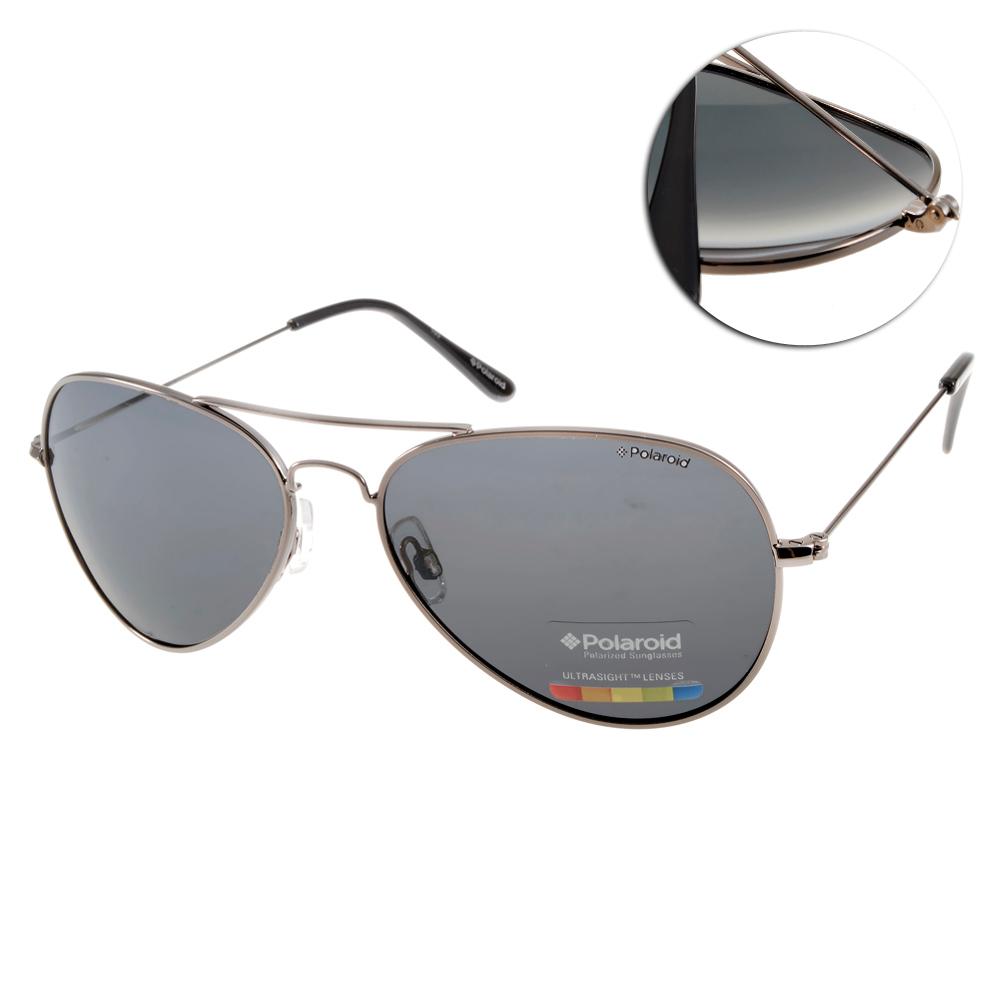 Polaroid 偏光太陽眼鏡/運動輕時尚/槍黑#PD04213C A4XY2