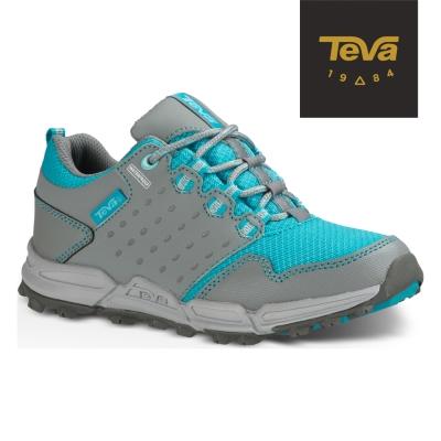 TEVA 美國 小童 Wit防水休閒運動鞋 (灰/藍)