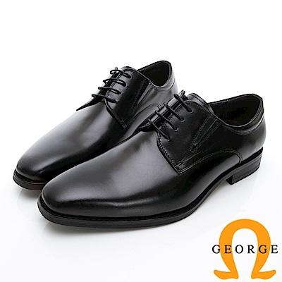 Amber 手工漸層綁帶紳士鞋皮鞋-黑