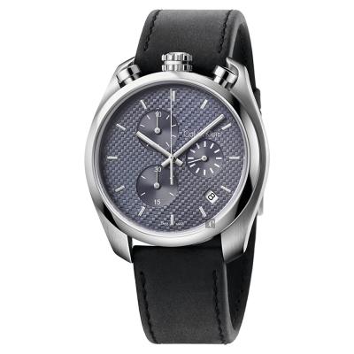 Calvin Klein CK Control 率性計時手錶-灰x黑/45mm