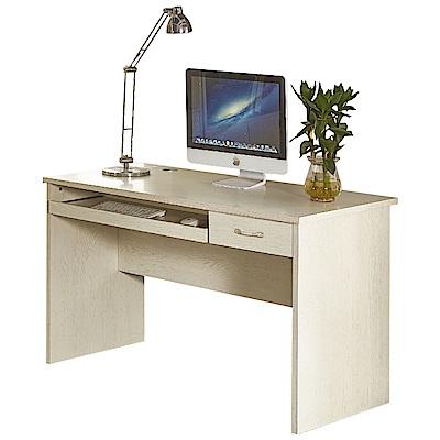 AT HOME-喬治4尺白木紋電腦書桌(120*60*75cm)