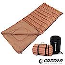 韓國GREEN-B 棉質條紋可拼接式信封睡袋(咖啡條紋) 露營/野餐/睡袋