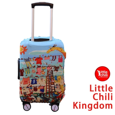 LittleChili行李箱套512-歡樂動物-L