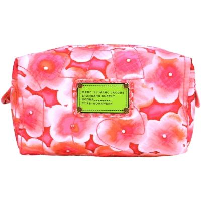 MBMJ Pretty Nylon 花卉圖騰尼龍萬用/化妝包(粉色)