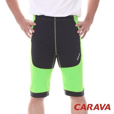 CARAVA《男款彈力專業運動短褲》(果綠)