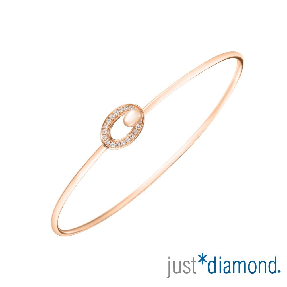 Just Diamond 18K玫瑰金鑽石手環-Muse kiss 繆斯之吻