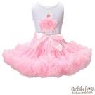 Chic Baby Rose 粉紅色手工雙層雪紡澎裙
