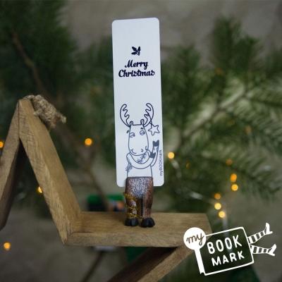 禮物myBookmark手工書籤-聖誕節麋鹿魯道夫的腳