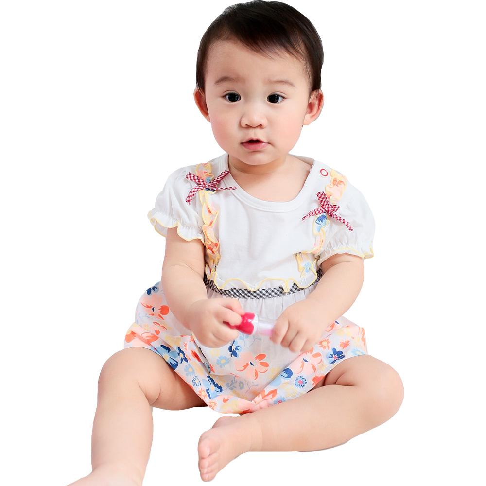 魔法Baby 繽紛連身裙(紅.桔隨機)k34950