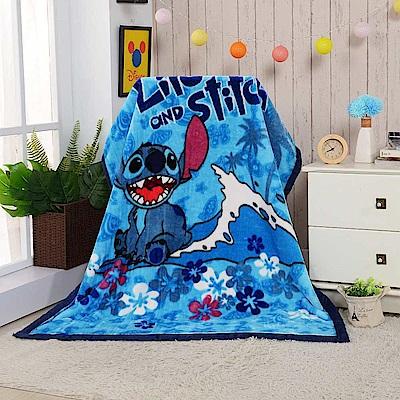 Disney藍色史迪 頂級加厚法蘭絨休閒毯