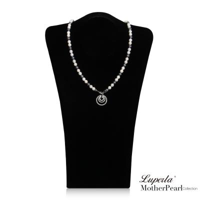 大東山珠寶  南洋貝寶珠 7mm 多層次變化長版項鍊 尊爵灰