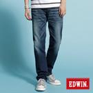 EDWIN 大尺碼 503 NARROW中直筒牛仔褲-男款(石洗藍)