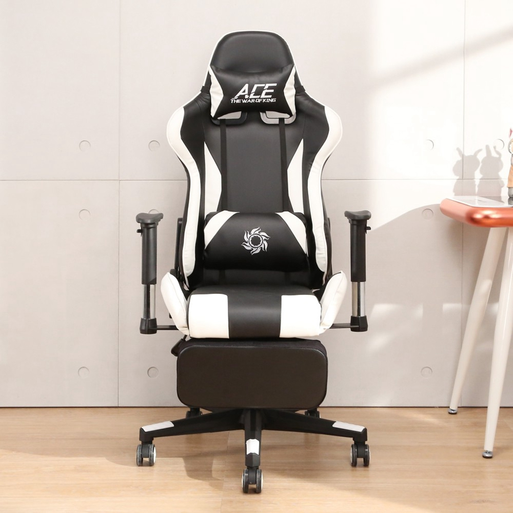 LOGIS邏爵-時尚飆速皮面坐臥專利腳台電競椅 電腦椅 賽車椅 皮椅