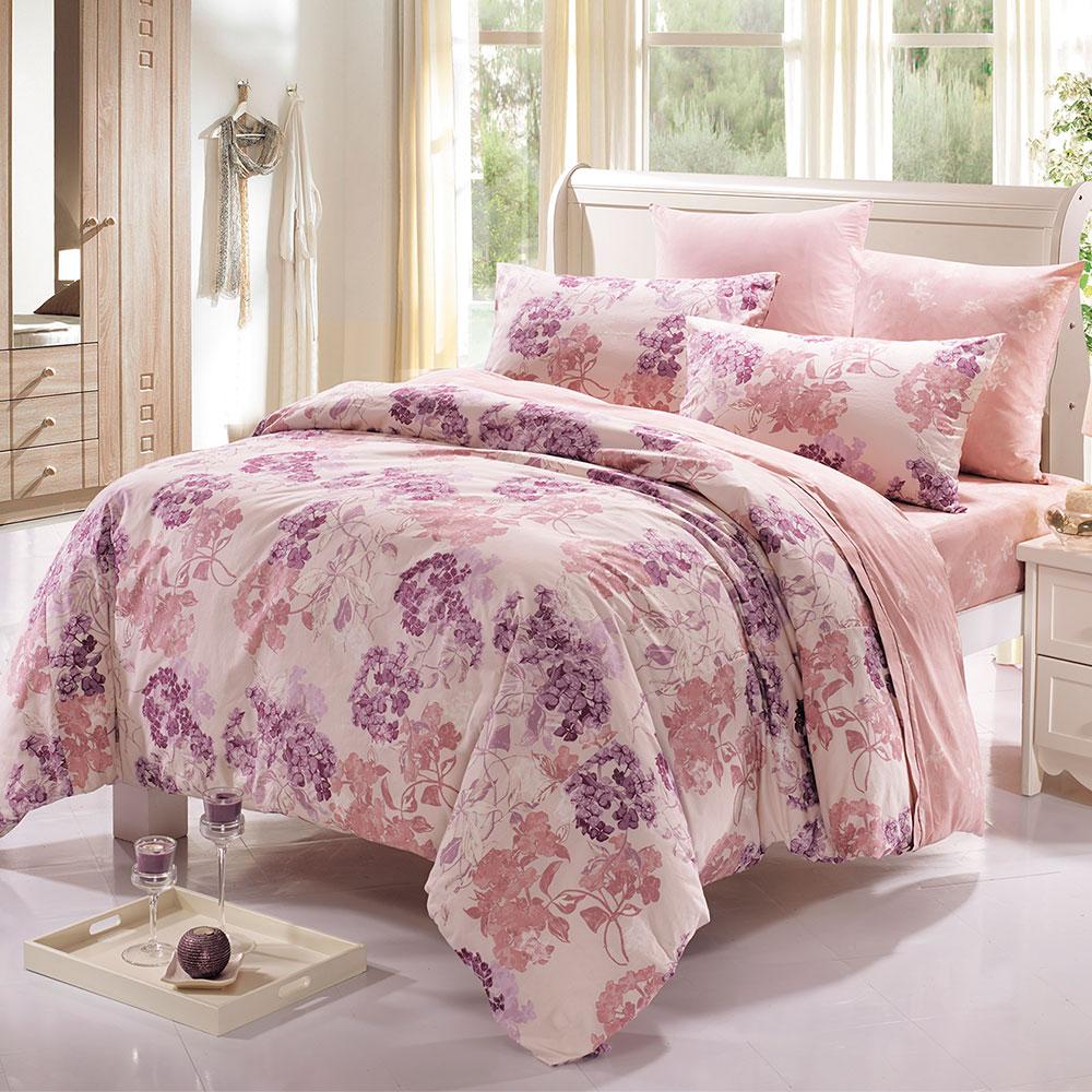 鴻宇HongYew 100%精梳棉 朵勒絲 雙人床包三件組