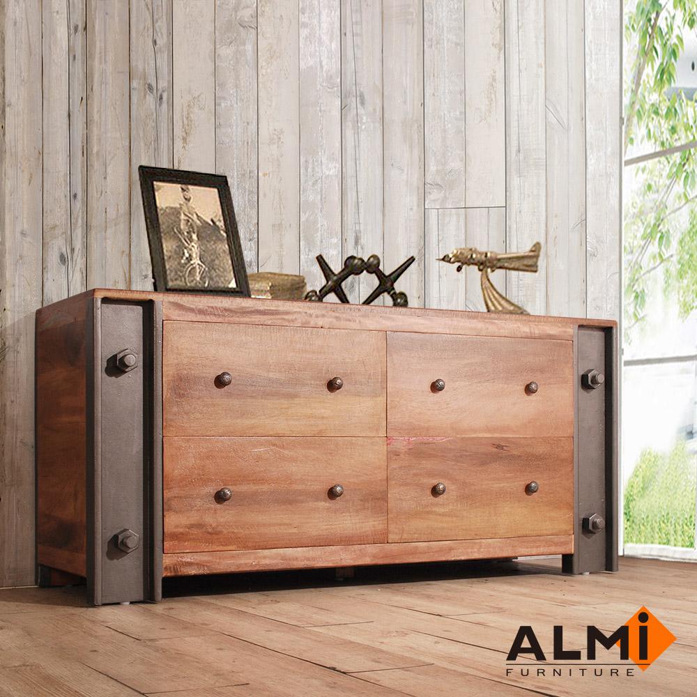 ALMI-COMMODE BASSE 工業風四抽櫃W140*D45*H65CM