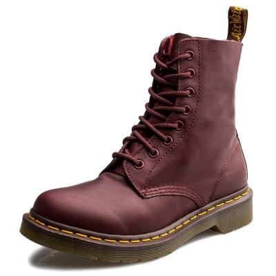 Dr.Martens-經典PASCAL8孔馬汀靴-女款-櫻桃紅