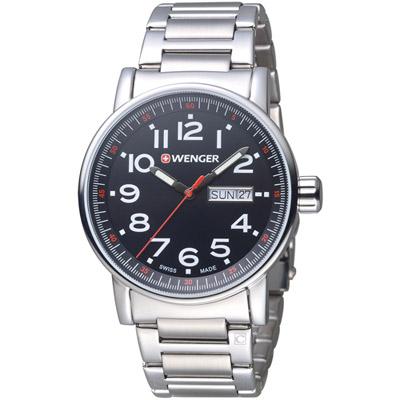 瑞士WENGER Attitude 態度系列 野營生活時尚腕錶-銀色/41mm