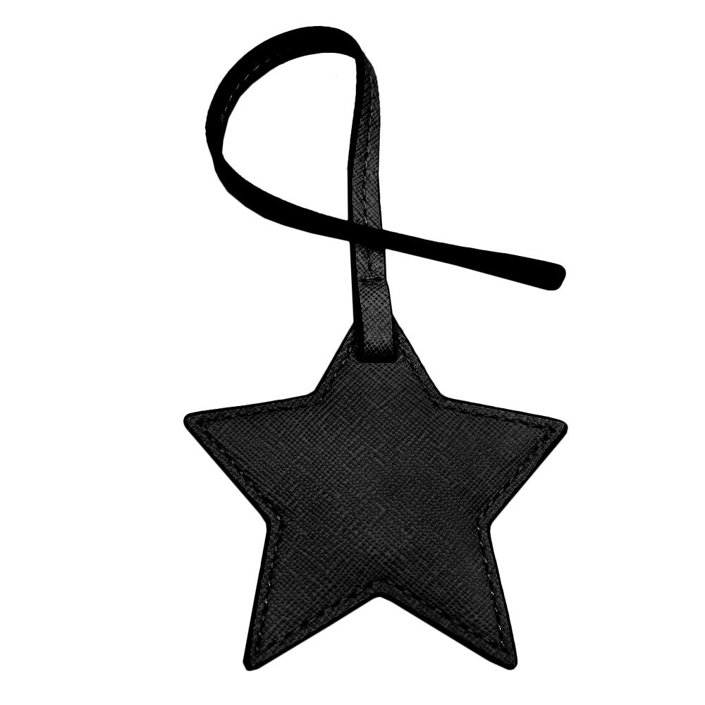 MICHAEL KORS 防刮皮革星星禮盒吊飾(黑)