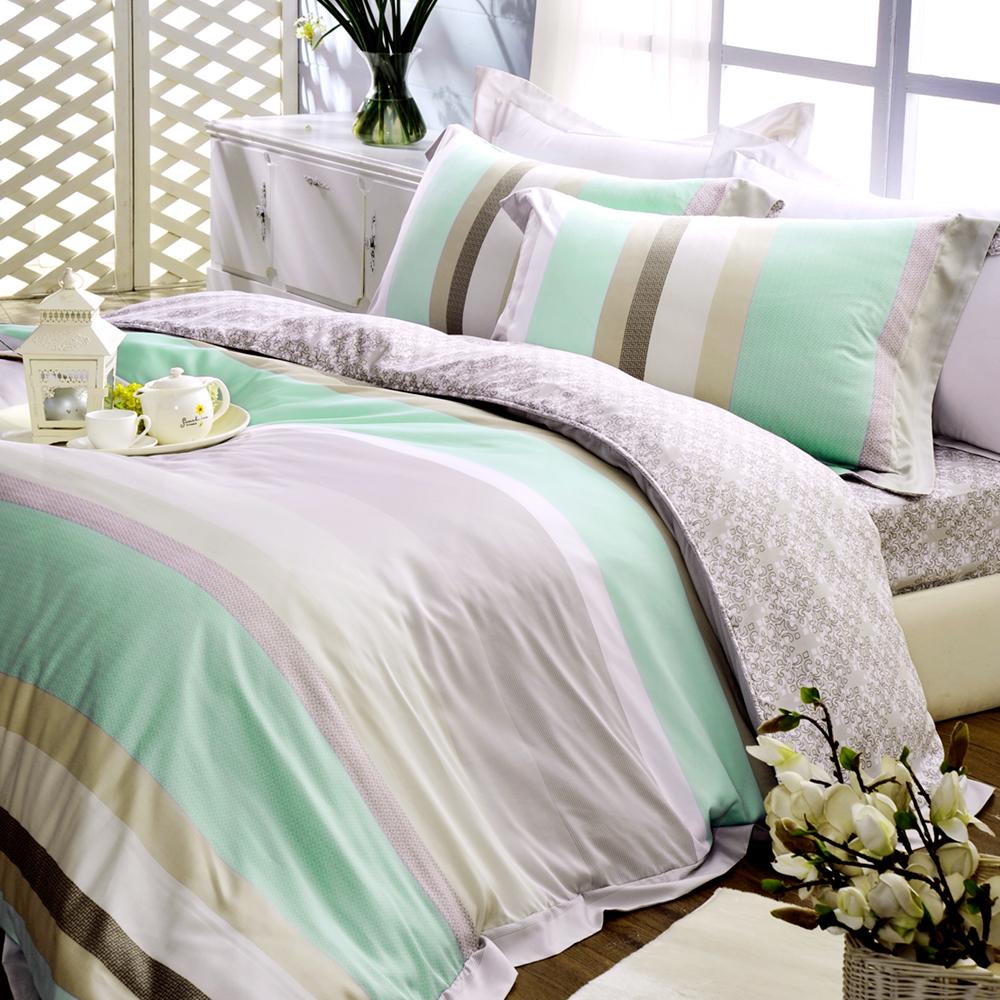 義大利La Belle 清境樂活 特大天絲八件式兩用被床罩組