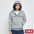 EDWIN 復古運動連帽拉T-男-灰色