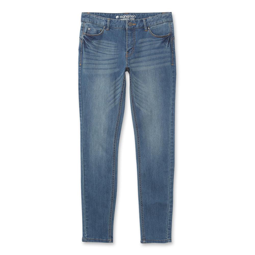 Hang Ten -女裝 -經典必備Lycra窄管丹寧褲 -藍