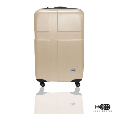 Just Beetle愛琴海系列經典20吋輕硬殼旅行箱/行李箱-香檳金