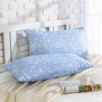MONTAGUT-冰絲涼感枕頭套-(蘆葦花-藍)