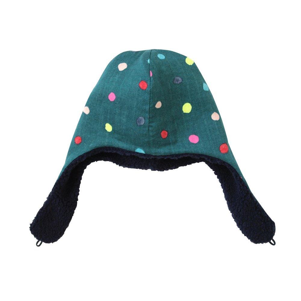 【NAOMI ITO】POCHO 粉彩波點毛帽(綠)