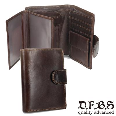 DF-BAGSCHOOL皮夾-日系古著款牛皮皮革多