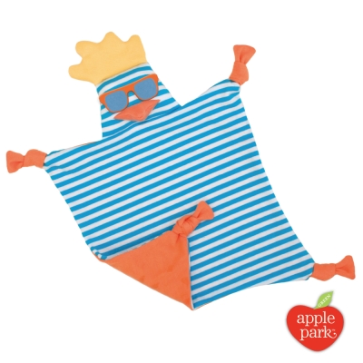 美國 Apple Park 農場好朋友系列 有機棉安撫巾 - 衝浪酷雞